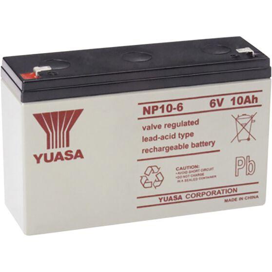 NP10-6FR Yuasa NP VRLA Battery, , scanz_hi-res