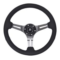Scarles Premium Steering Wheel - Black Leather
