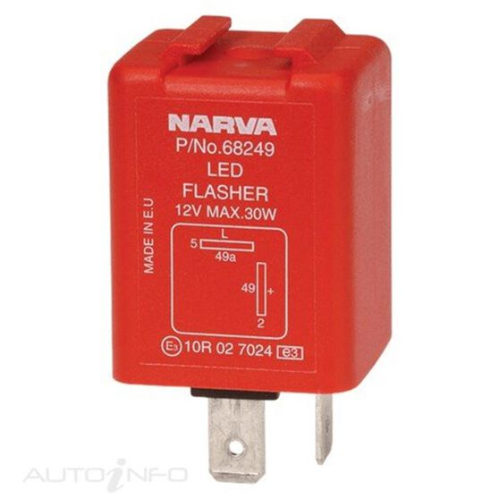 FLASHER ELEC 12V 2 PIN LED