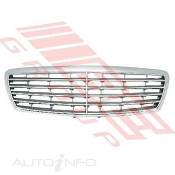 GRILLE - SILVER W/CHROME FRAME