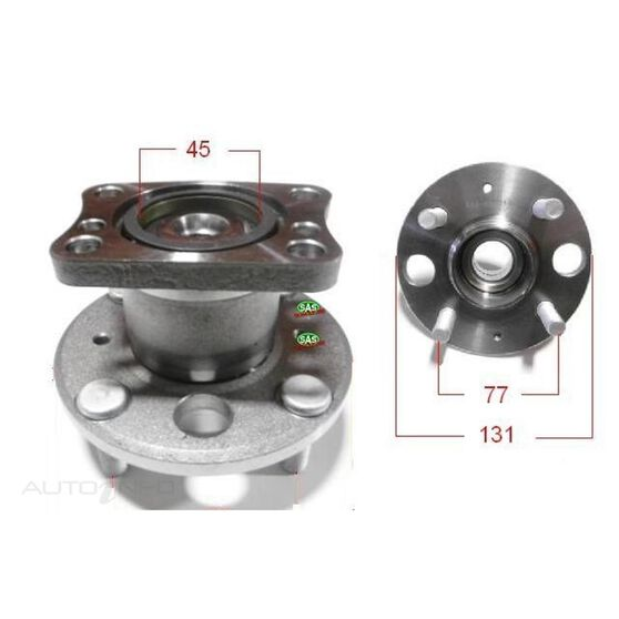 Ford Fiesta 08-11 Rear wheel hub, , scanz_hi-res