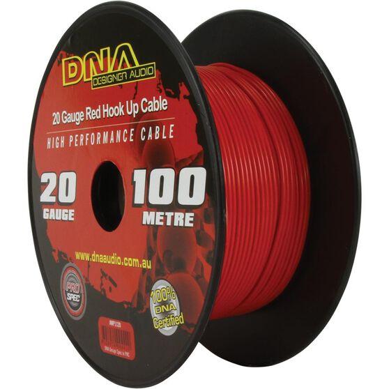 DNA CABLE 20 GAUGE HOOK UP RED 100MTR, , scanz_hi-res