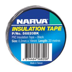 PVC INSULATION TAPE BLACK 19mm x 20M, , scanz_hi-res