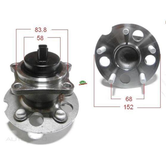 Toyota Rav4 94-00 Rear Hubs, , scanz_hi-res