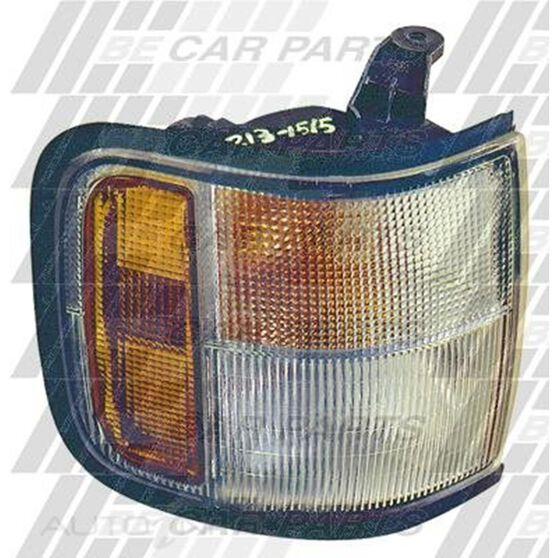 CORNER LAMP - L/H - AMB/CLR - RUBBER SRND, , scanz_hi-res