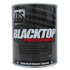KBS BLACKTOP PERMANENT UV TOP COAT SATIN BLACK 1 LITRE, , scanz_hi-res