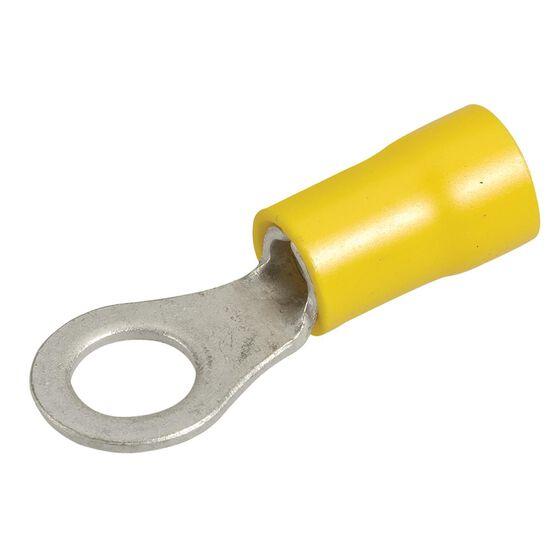 RING TERMINAL YELLOW 6.3mm PK12