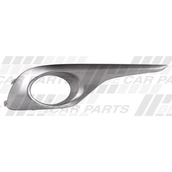 FOG LAMP COVER - R/H - PAINTED SILVER/GREY - W/HOLE, , scanz_hi-res