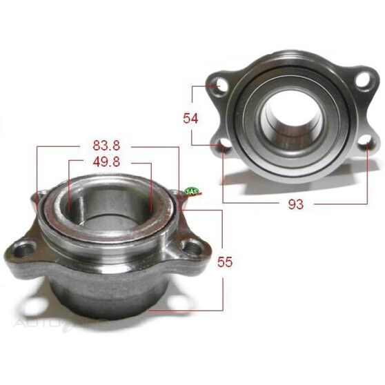 Nissan Elgrand E51 Rear wheel bearing and Carrier, , scanz_hi-res
