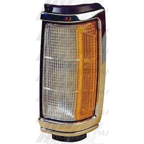CORNER LAMP - L/H - CHROME/BLACK
