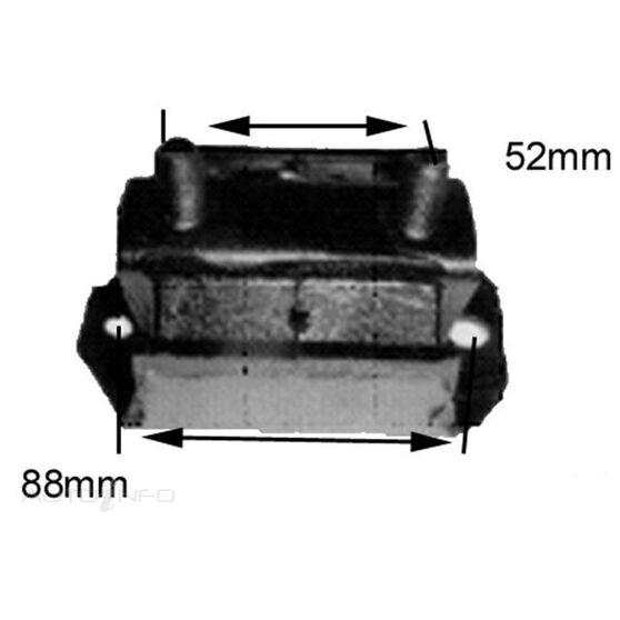 MAZDA B2200-2600 85-09 REAR MOUNT, , scanz_hi-res