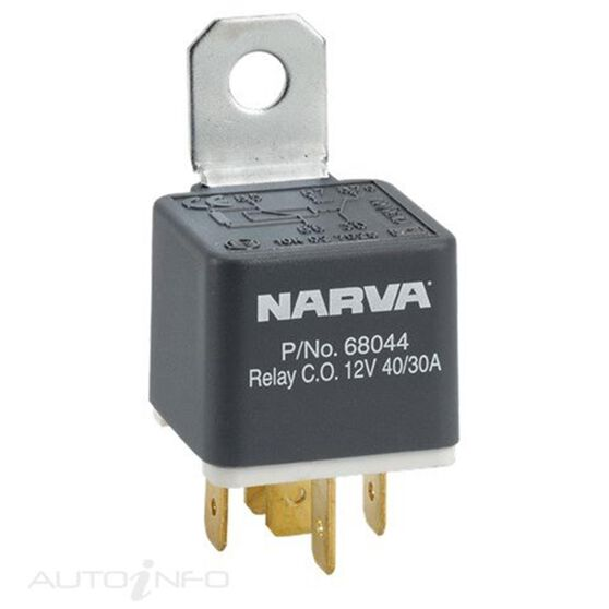 RELAY 12V 5 PIN 40/30A DIODE