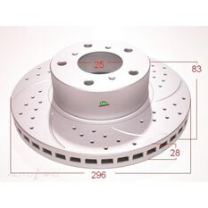 Rotor 296x83x28 RH Only Commodore VT F Slotted, , scanz_hi-res