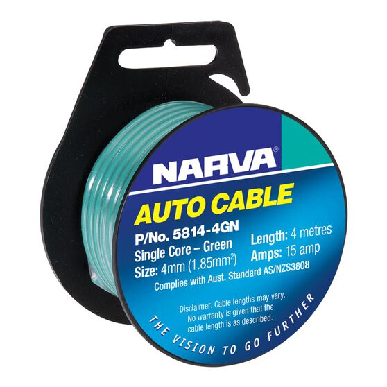 CABLE SINGLE CORE 4mm 4M GREEN, , scanz_hi-res
