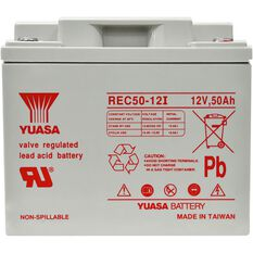 REC50-12 Yuasa AGM Deep Cycle Battery, , scanz_hi-res