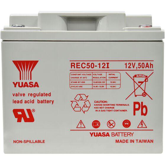 REC50-12 Yuasa AGM Deep Cycle Battery, , scanz_hi-res