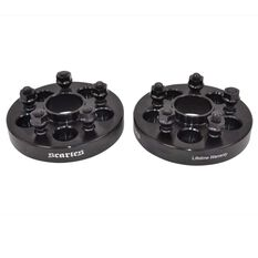 Wheel Spacers 5x100 to 5x114.3 12x1.25 25mm Pair, , scanz_hi-res