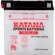 YB10L-A2 Katana Motorcycle Battery, , scanz_hi-res