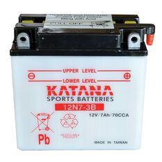 12N7-3B Katana Motorcycle Battery, , scanz_hi-res