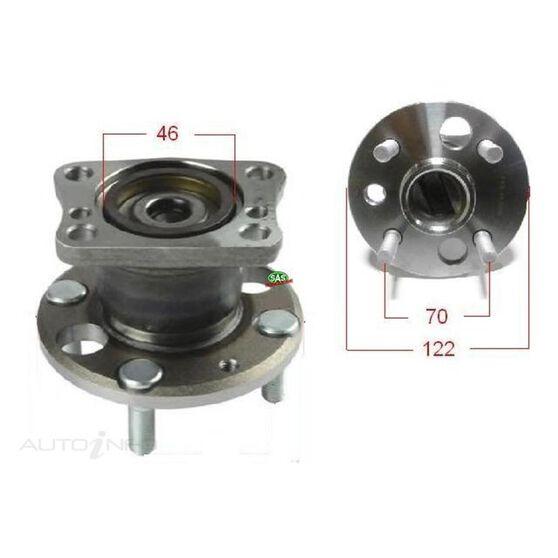 Mazda 2 11- rear wheel hub, , scanz_hi-res