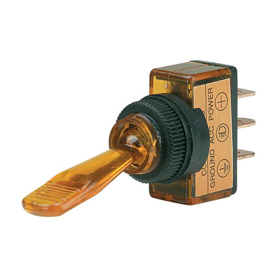 SWITCH TOGGLE ON/OFF AMBER 12V