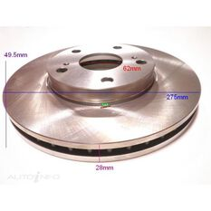 Rotor 275x49.5x28  Front  Toyota Camry 97-06, , scanz_hi-res