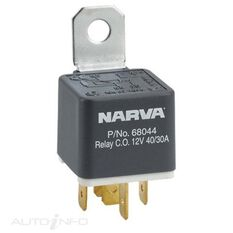 RELAY 12V 5 PIN 40/30A RESISTR, , scanz_hi-res