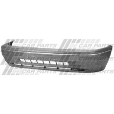FRONT BUMPER - GREY W/CHROME MLDG, , scanz_hi-res