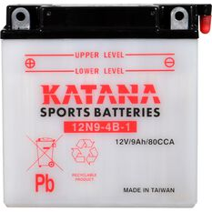 12N9-4B-1 Katana Motorcycle Battery, , scanz_hi-res