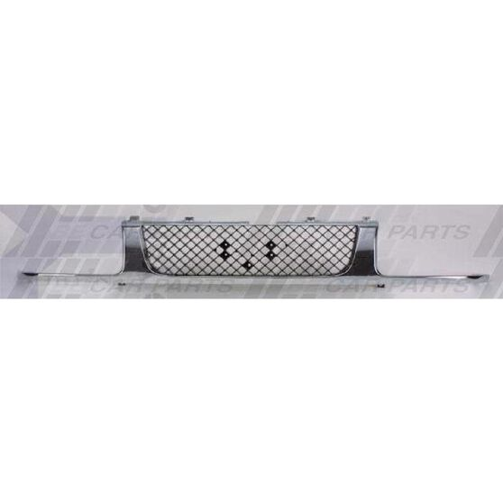 GRILLE - CHROME/BLACK - NO BEZELS