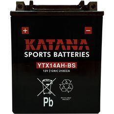 YTX14AH-BS Katana Motorcycle Battery, , scanz_hi-res