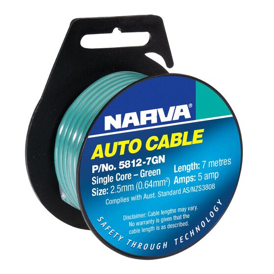 CABLE SINGLE 2.5 5AMP 7M GREEN
