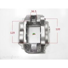 Caliper RHF Landcruiser 100 Series IFS 43mm Piston, , scanz_hi-res