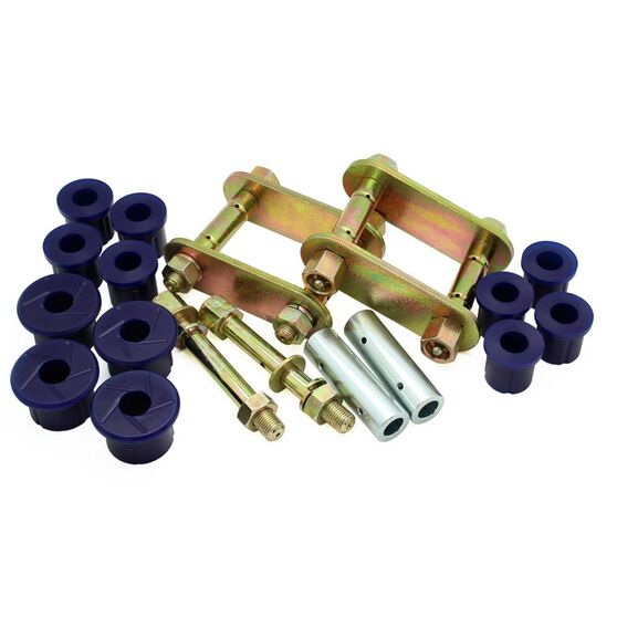 HOL COLORADO/D-MAX 03-12 GREASEABLE REAR SHACKLE KIT, , scanz_hi-res