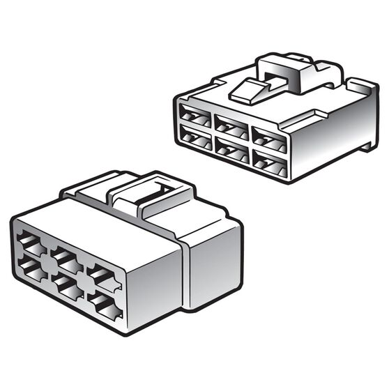CONNECTOR Q/C MALE/FEMALE 8WAY