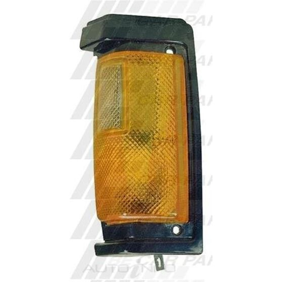 CORNER LAMP - R/H - BLACK TRIM - AMBER, , scanz_hi-res