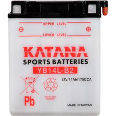 YB14L-B2 Katana Motorcycle Battery, , scanz_hi-res