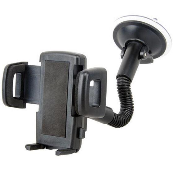 PHONE CRADLE WINDOW MOUNT GOOSE NECK WITH ADJUSTABLE CLAMP (35 - 83MM), , scanz_hi-res