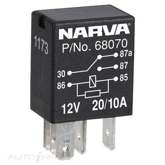 RELAY MICRO 12V 5 PIN 20/10AMP, , scanz_hi-res