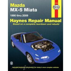 MAZDA MX-5 MIATA HAYNES REPAIR MANUAL COVERING ALL MAZDA MX-5 MIATA MODELS FOR 1990 THRU 2014 (DOES NOT INCLUDE INFORMATION SPECIFIC TO TURBOCHARGED MODELS), , scanz_hi-res