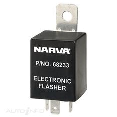 FLASHER ELEC 12V 3PIN LOAD SEN, , scanz_hi-res