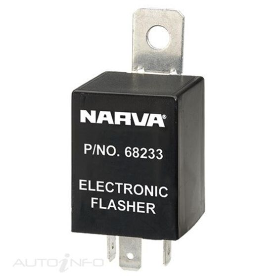 FLASHER ELEC 12V 3PIN LOAD SEN, , scanz_hi-res