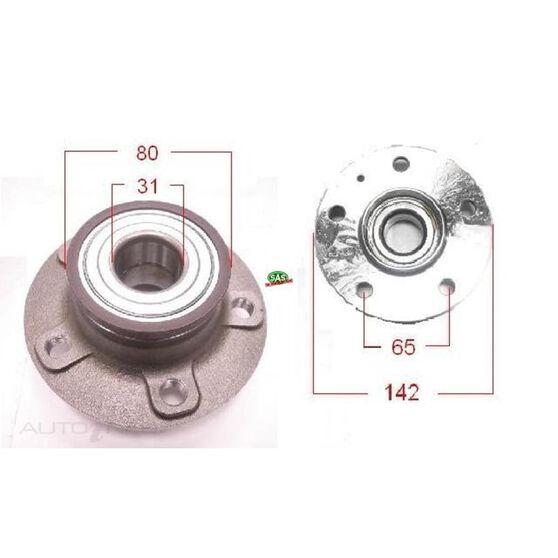 Audi A4 08-12 Rear wheel hub, , scanz_hi-res