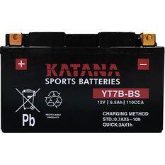 YT7B-BS Katana Motorcycle Battery