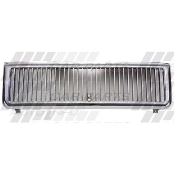 GRILLE - CHROME/BLK - VERTICAL BARS