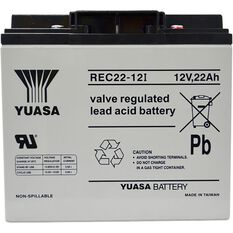 REC22-12 Yuasa AGM Deep Cycle Battery, , scanz_hi-res