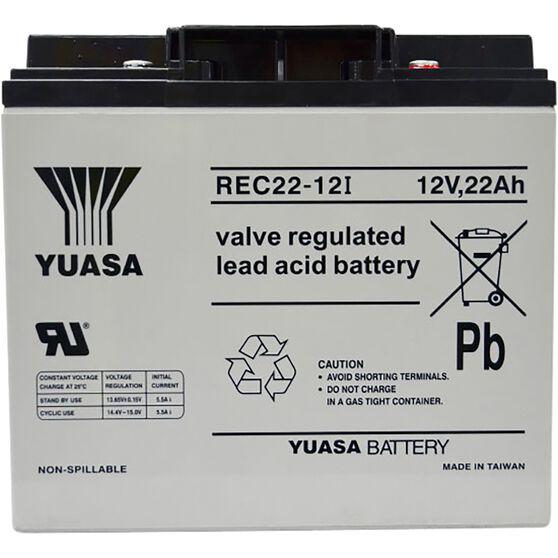 REC22-12 Yuasa AGM Deep Cycle Battery, , scanz_hi-res