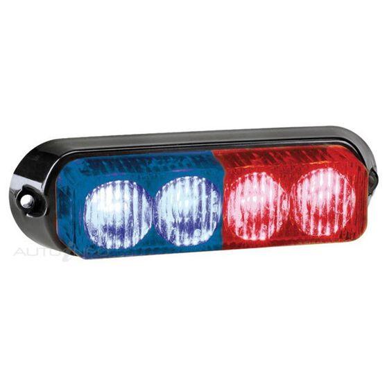 WARNING LIGHT 12V/24V 4LED RED/BLU, , scanz_hi-res