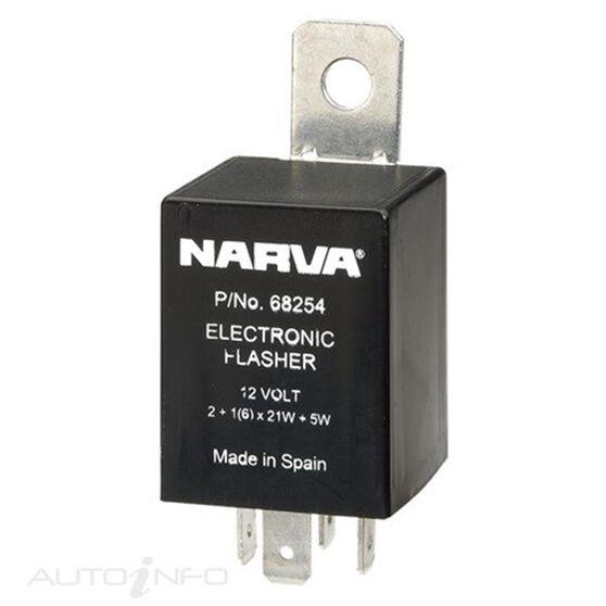FLASHER ELEC 12V 4PIN LOAD SEN, , scanz_hi-res