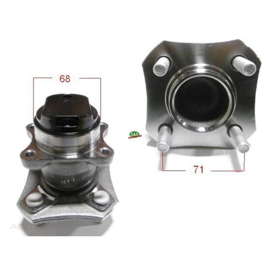 Nissan Tida 04-10 Rear hub, , scanz_hi-res